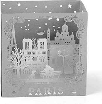 Night in Paris Handmade Pop Up 3D Card Paper Greeting Card Mother Valentine
