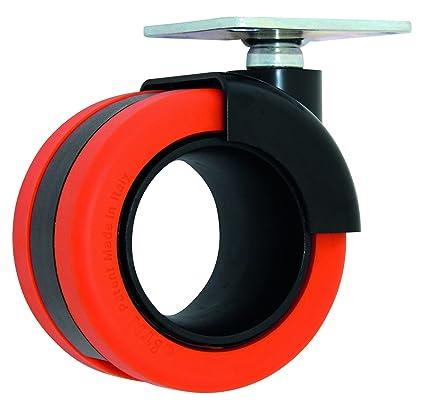HSI Diseño de Ruedas para muebles (con placa, nailon, 1 pieza, 261410.0