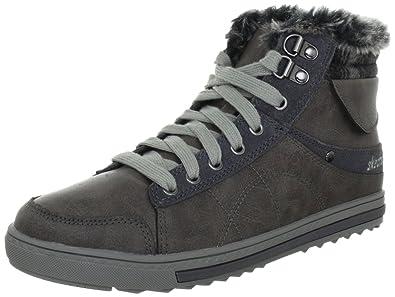 Kicks Coolest, Sneakers Hautes femme, Gris, 35 EU (2 UK)Skechers