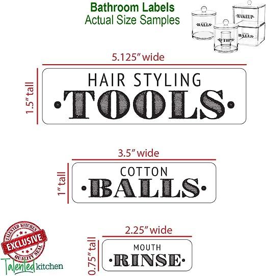Bathroom Labels Set of 40 12cm long