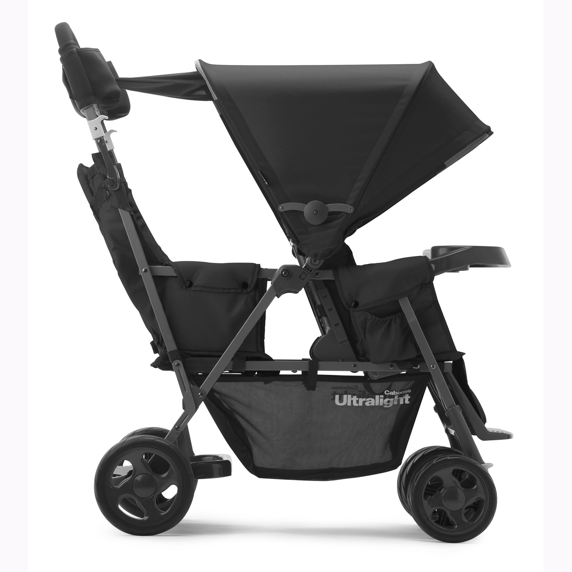 JOOVY Caboose Too Ultralight Graphite Stand-On Tandem Stroller, Black by Joovy (Image #2)
