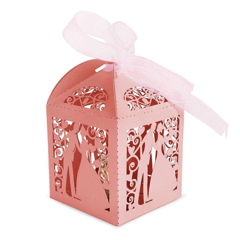 Amazon.com: SHZONS 50pcs Couple Design Lase Cut Party Wedding Favor ...