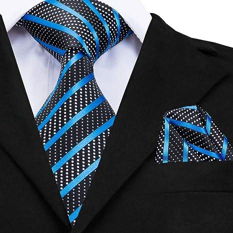 Graven CZ-007 - Corbata de Seda de Lujo 2018, diseño de Rayas ...
