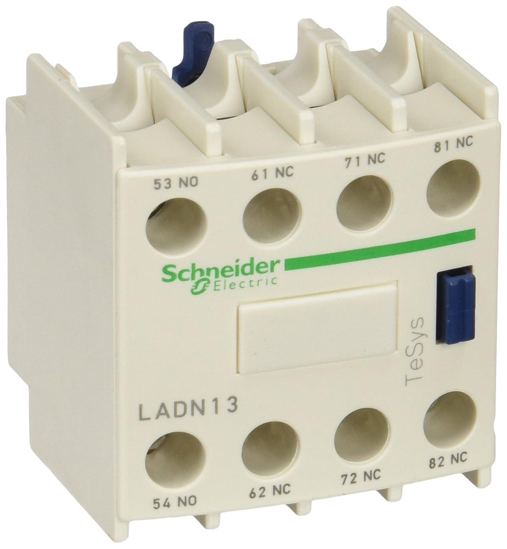 Schneider Electric LAD8N11 TeSys D, Bloque de contactos aux, 1NO + 1NC, conexió n por tornillo conexión por tornillo LADN13