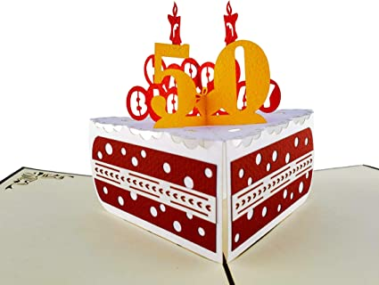 Remarkable Igifts And Cards Happy 50Th Birthday Cake 3D Pop Up Card Awesome Funny Birthday Cards Online Inifodamsfinfo