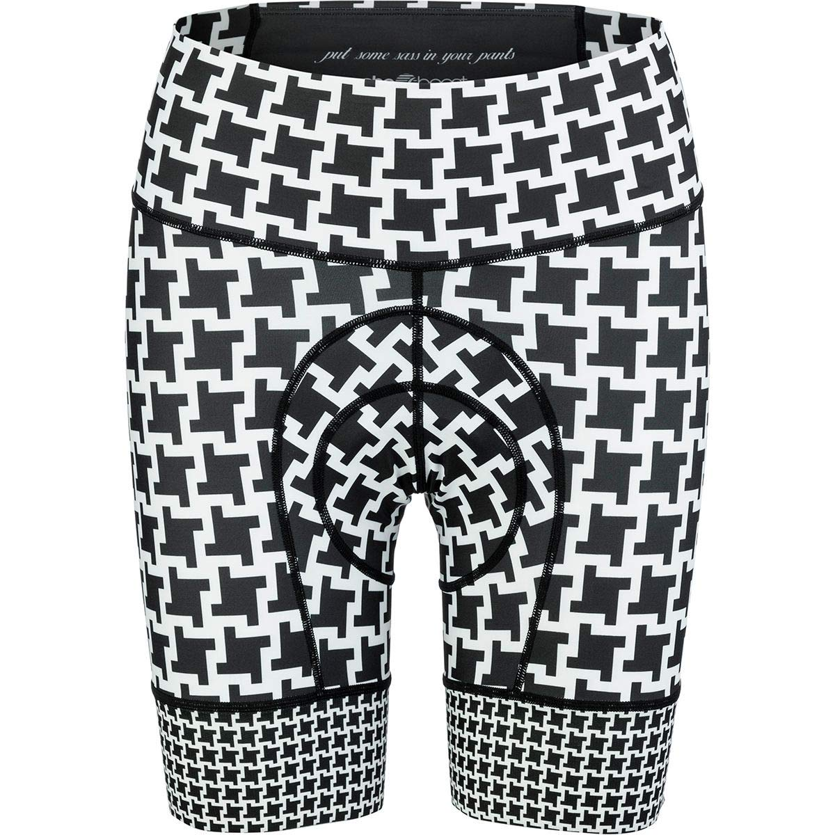 SHEBEEST Petunia Short - Women's Dogs Tooth/Black/White, L