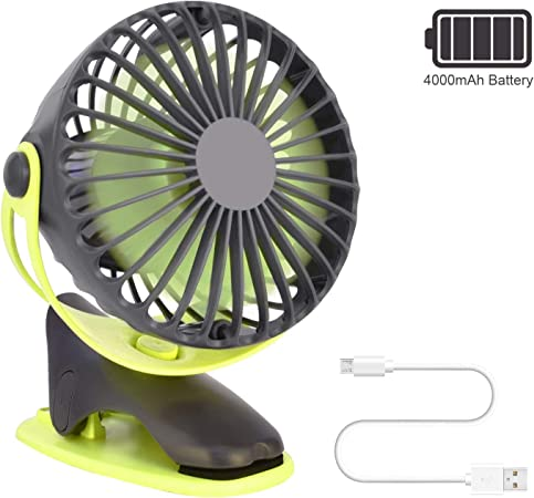 OTraki Ventilateur USB Mini Portable Ventilateurs à Pince de