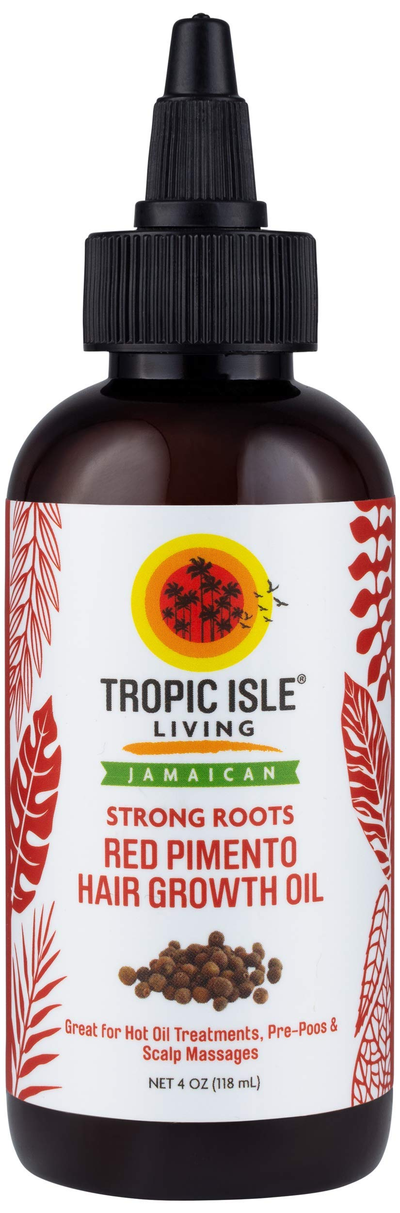 Tropic Isle Living Strong Roots Red Pimento Hair Growth Oil (4 oz)
