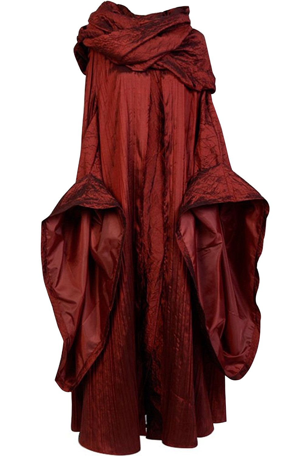 SIDNOR GoT Game of Thrones The Red Woman Melisandre Cosplay Costume Outfit Suit Dress (Medium)