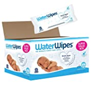 WaterWipes Sensitive Baby Wipes, Unscented, 540 Count (9 Packs of 60 Count)