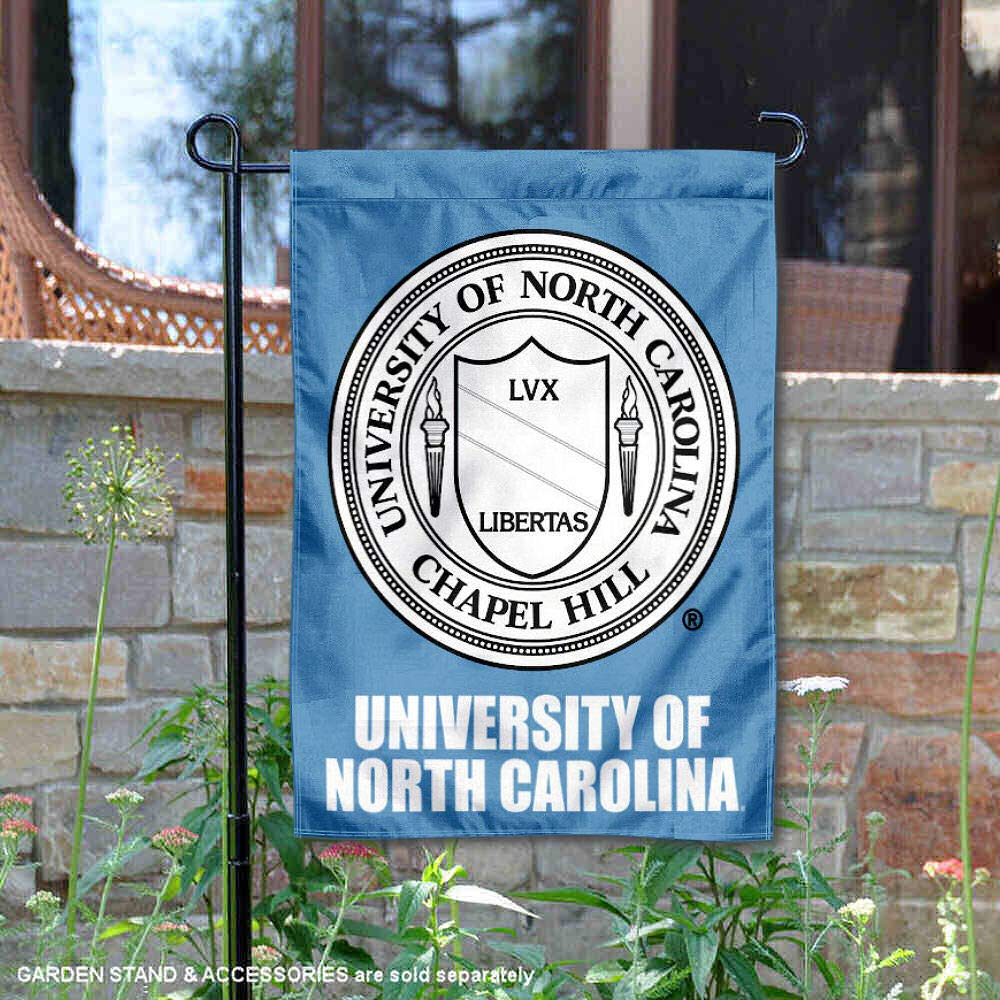 North Carolina Tar Heels Crest Garden Flag