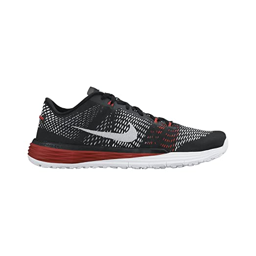 Nike Men's Lunar Caldra Training Shoe Black/Cool Grey/University Red/White  10.5