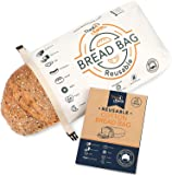 Organic Cotton Bread Bag - Reusable, Premium Bread Bag - Bakery Supplies and Food Storage Solutions - 100% Recyclable…