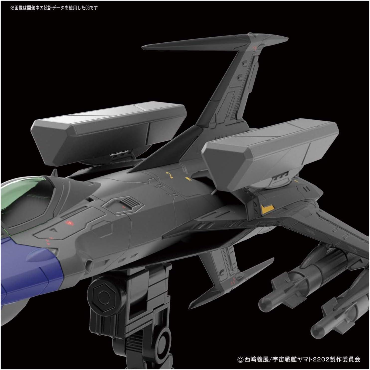 Bandai Hobby Starblazers Type 0 Model 52 Autonomous Space Fighter Black Bird Yam