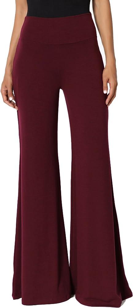 Arolina Womens Stretchy Wide Leg Palazzo Lounge Pants