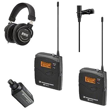 micrófono inalámbrico KIT: Sennheiser EW 100 ENG G3 sistema de micrófono inalámbrico - B (626 - 668 mhz) con LyxPro Studio auriculares: Amazon.es: ...