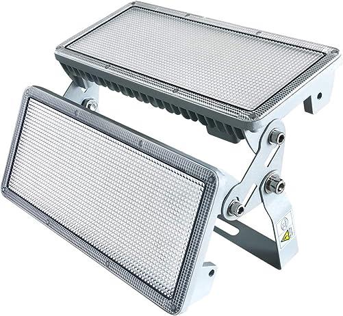 ZHMA 100W LED Flood Light Outdoor with Plug,9000lm Super Bright LED Work Light,White Light,IP66 Waterproof Spotlight Outdoor Landscape Floodlight for Yard,Garage,Garden,Basketball Court