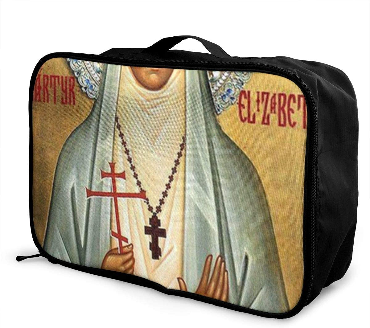 St Elizabeth The New Martyr Travel Carry-on Luggage Weekender Bag Overnight Tote Flight Duffel In Trolley Handle