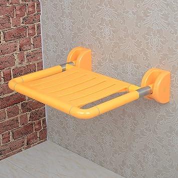 starke klappbare wandbank dusche sitz wand stuhl badezimmer hocker fubank farbe gelb - Klappbarer Sitz Fur Dusche