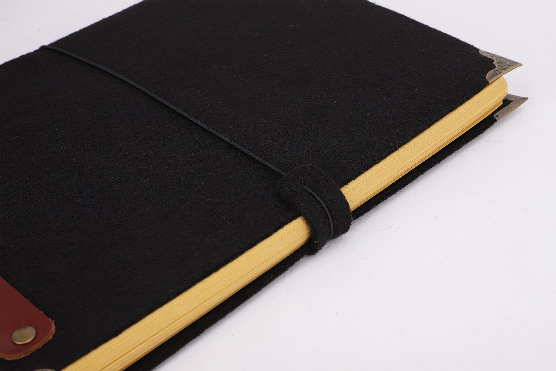 Cuaderno de 3 anillas B5 de fieltro suave con papel kraft ...