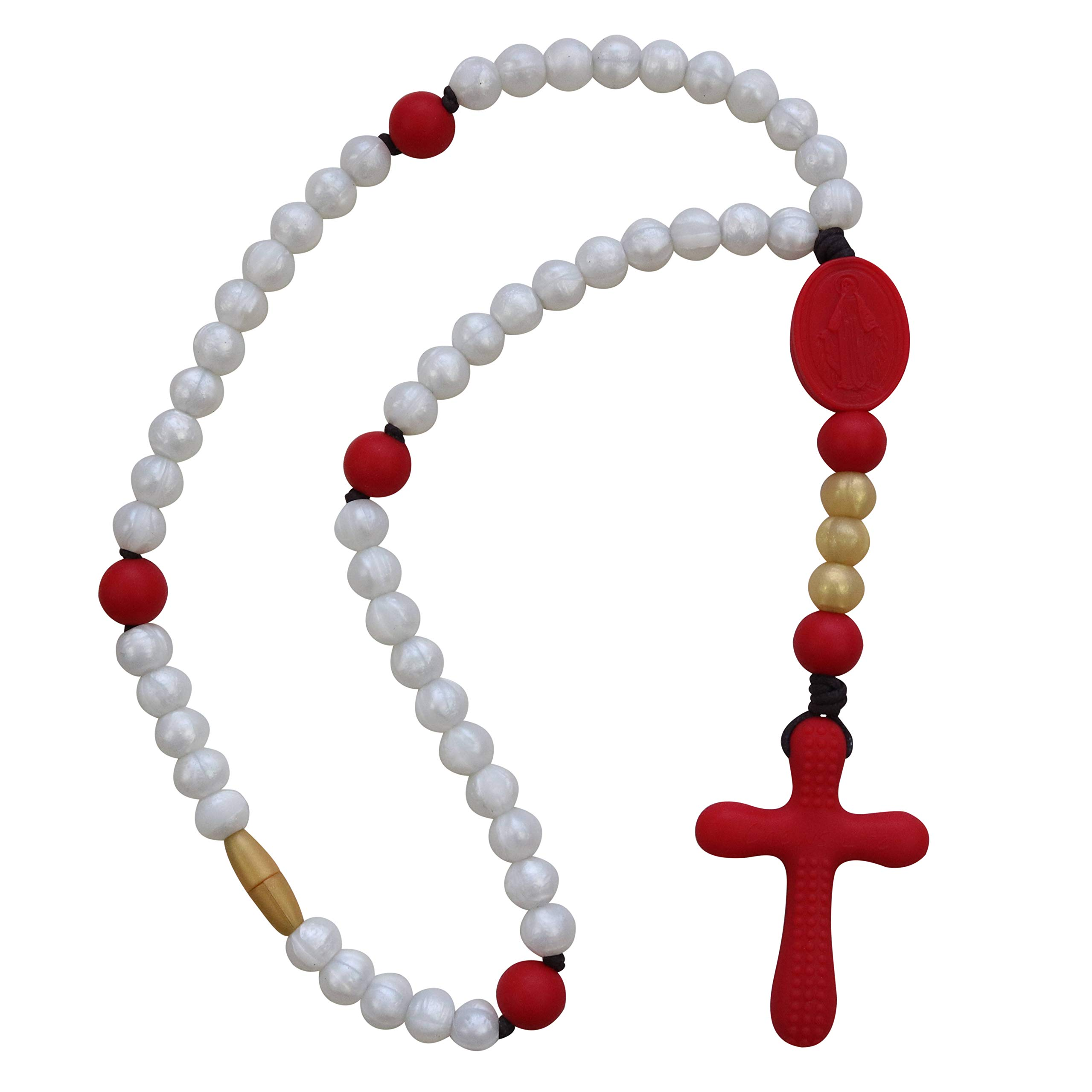 Limited Edition Red, Pearl & Gold | Chews Life Soft Rosary by Chews Life