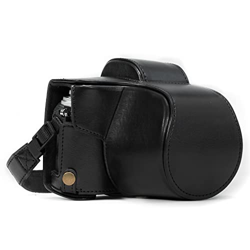 MegaGear Olympus OM-D E-M10 Mark II, E-M10 (14-42mm) Ever Ready Leather Camera Case and Strap