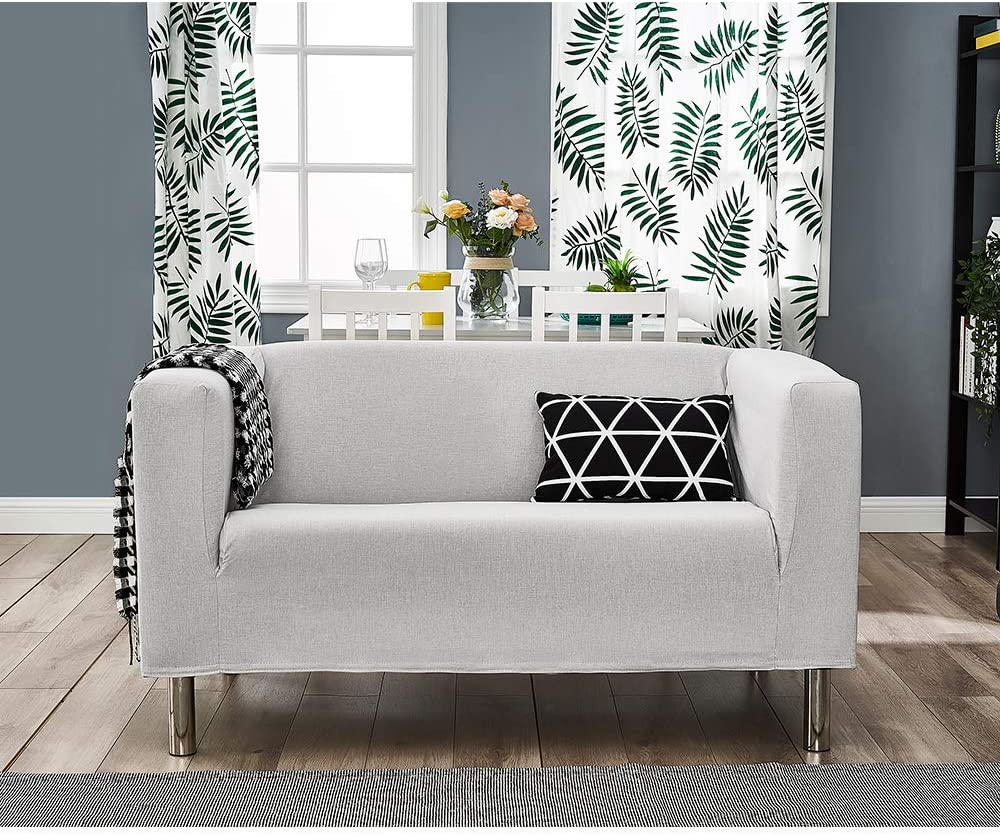Cream, 2 Seater Panana Modern Sofa Fabric 2 Seater Compact Sofa for Living Room Small Sofa with Stainless Steel Feet