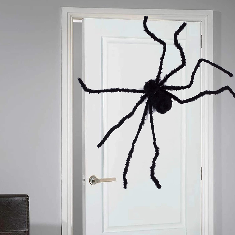 Scaring Black Spider Halloween Decor Haunted House Prop Outdoor Set Wide 75cm