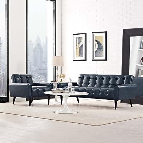 Marvelous Amazon Com Modway Delve Luxury Button Tufted Faux Leather Creativecarmelina Interior Chair Design Creativecarmelinacom