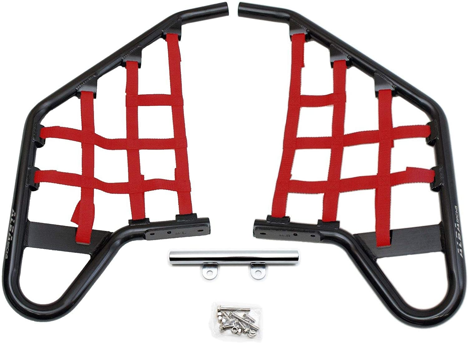 Motoworks 81-0103 Replacement EZ-FIT Nerf Bar Nets Red