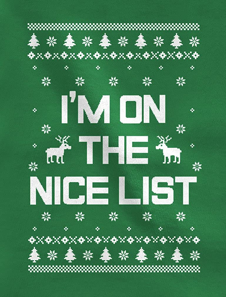 Xmas Nice & Naughty List Ugly Christmas Set Funny Holiday Party Sweatshirts nCs9nhlj