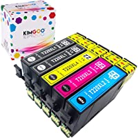 Kimgoo Compatible Epson 220XL 220 Ink Cartridges for Epson Expression Home WF-2630 WF-2650 WF-2660 WF-2760 WF-2750 XP-320 XP-424 XP-420 XP-220 XP-324 Printer - 5Pack (2Black 1Cyan 1Magenta 1Yellow)