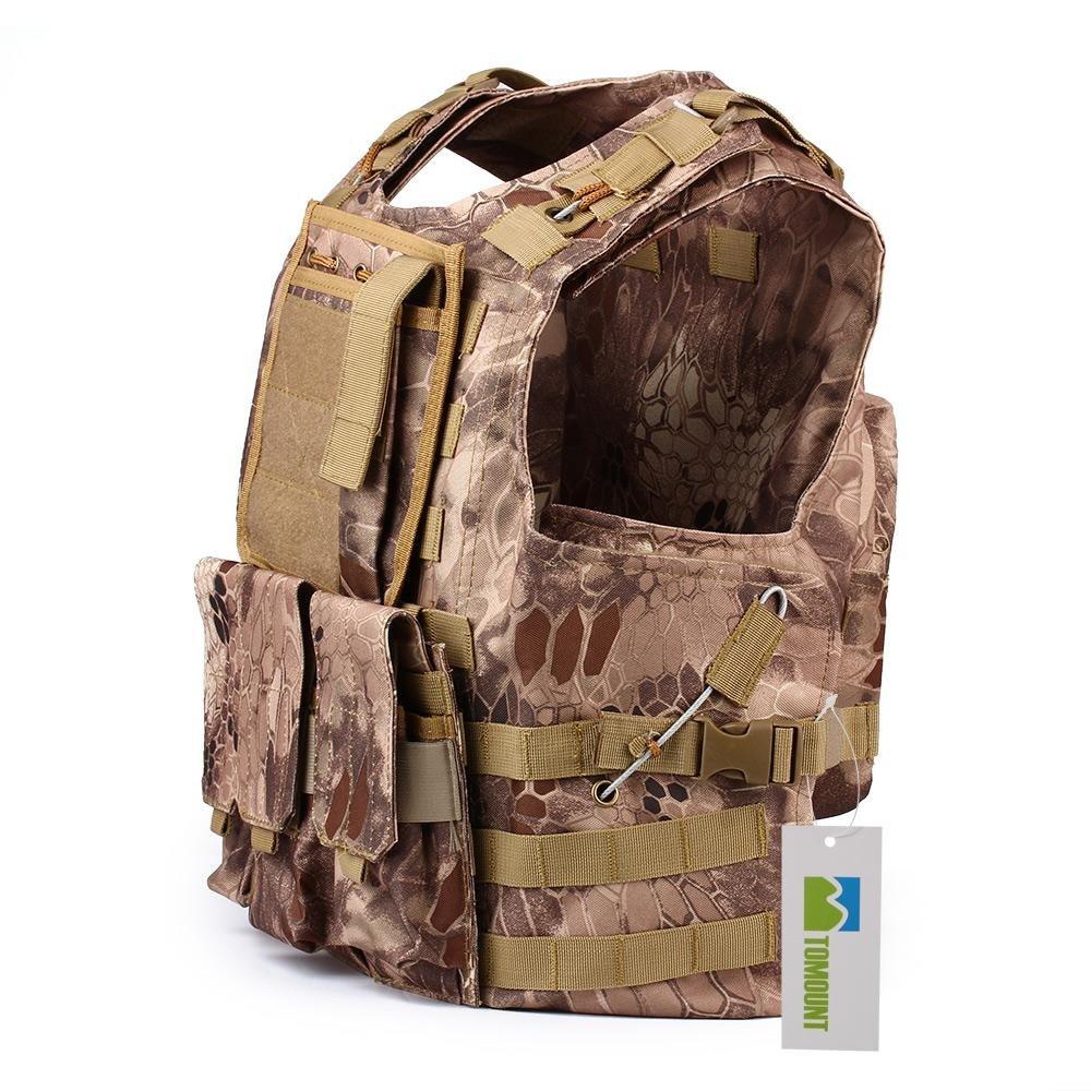 TOMOUNT Gilet Veste en Nylon Camouflage MOLLE pour Tactique Combat Paintball Militaire ebuyfrmart