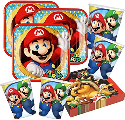 Imagen deUnbekannt Juego de Accesorios de Fiesta Super Mario Nintendo, 52 Piezas
