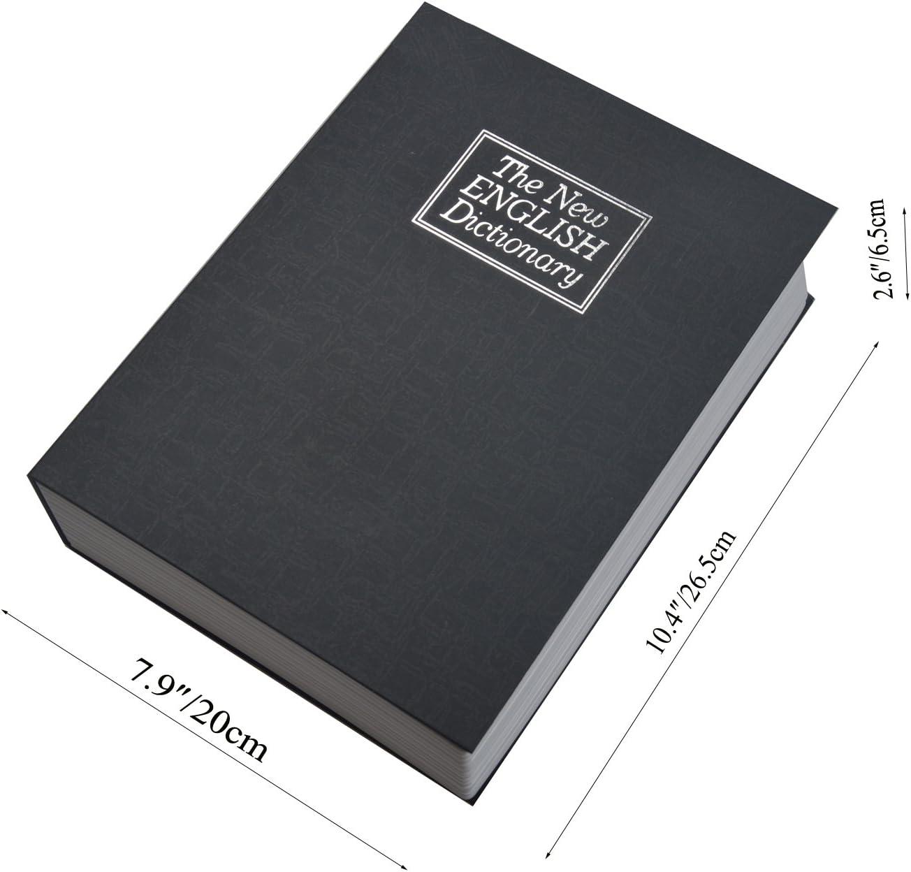 Langtor Caja Fuerte para Libros con Cerradura de Combinación, Caja ...