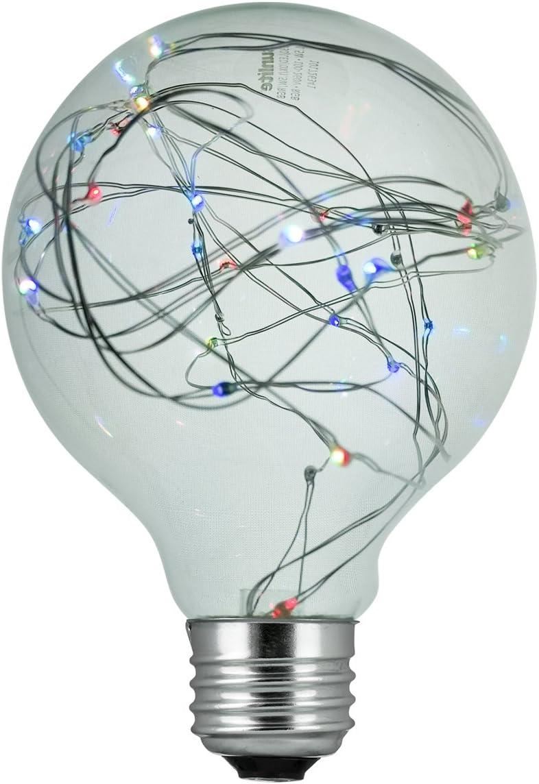 Sunlite 81183-SU LED G30 Globe Fairy Bulb String-Light Decorative Lightbulb, 1 Pack, RGB
