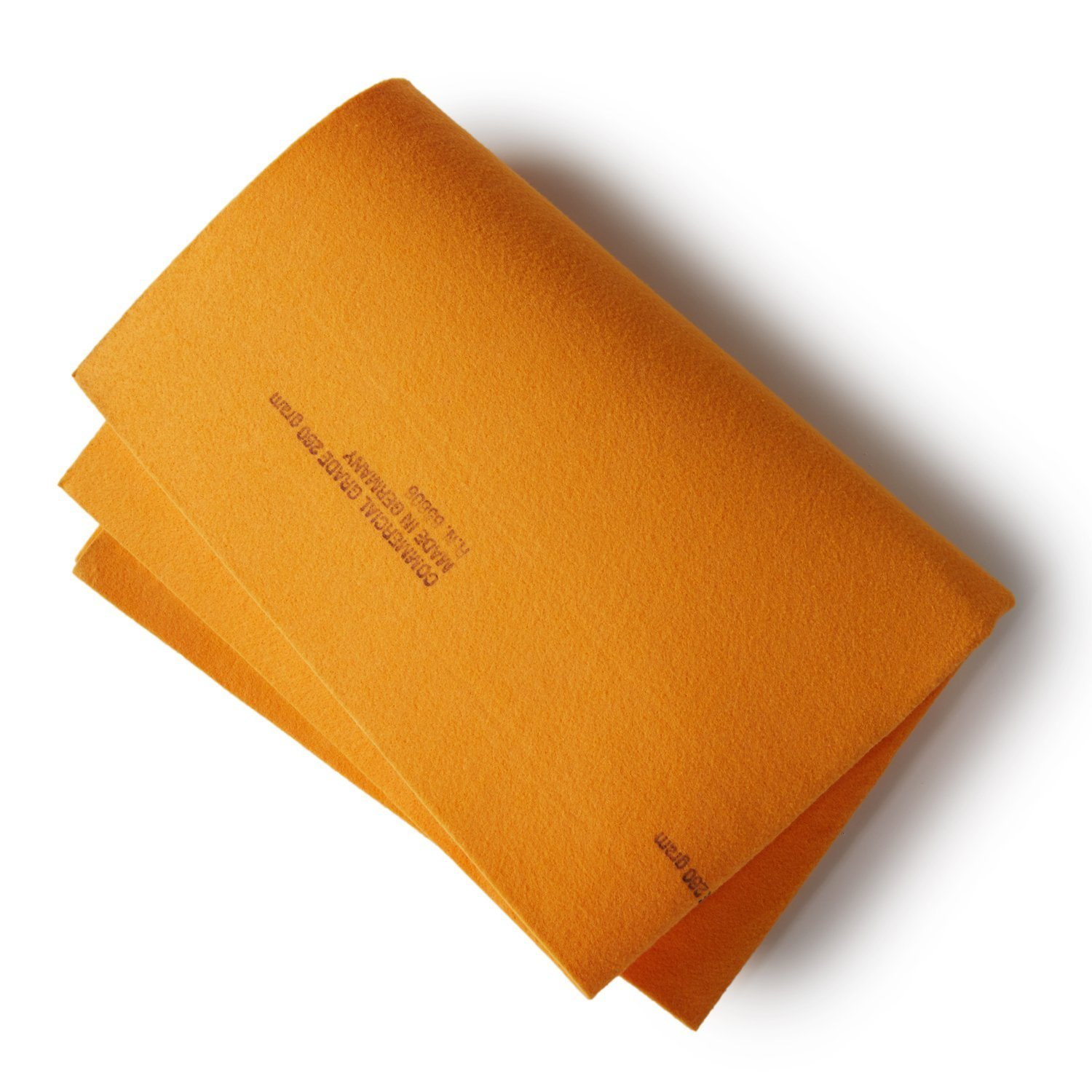 """Lifetime Replacement Premium Commercial Grade German Chamois Super Absorbent Drying Cleaner Cloth Guaranteed Best Shammy GSmse Orange 2PK, 260 Gram 20/"""" x 28/"""""""