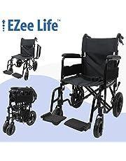 "Transport chair - Featherlight aluminum frame - 18"" seat width"