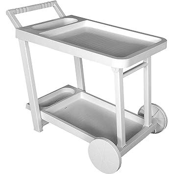 desserte chariot chariot de jardin en plastique blanc