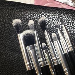 Amazon Com Matto Professional Makeup Eye Brush Set Eyeshadow Brushes 8 Piece White Beauty