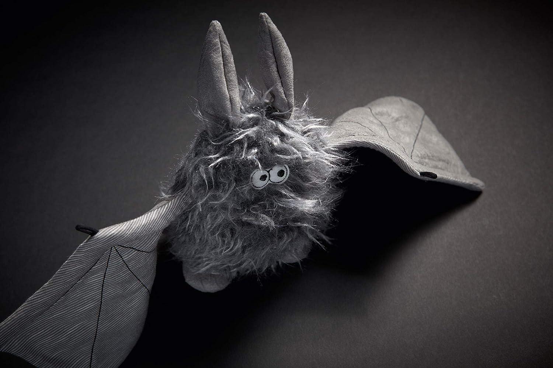 Battery Bat 39152 sigikid Kuscheltier f/ür Erwachsene und Kinder Fledermaus grau//schwarz Beaststown