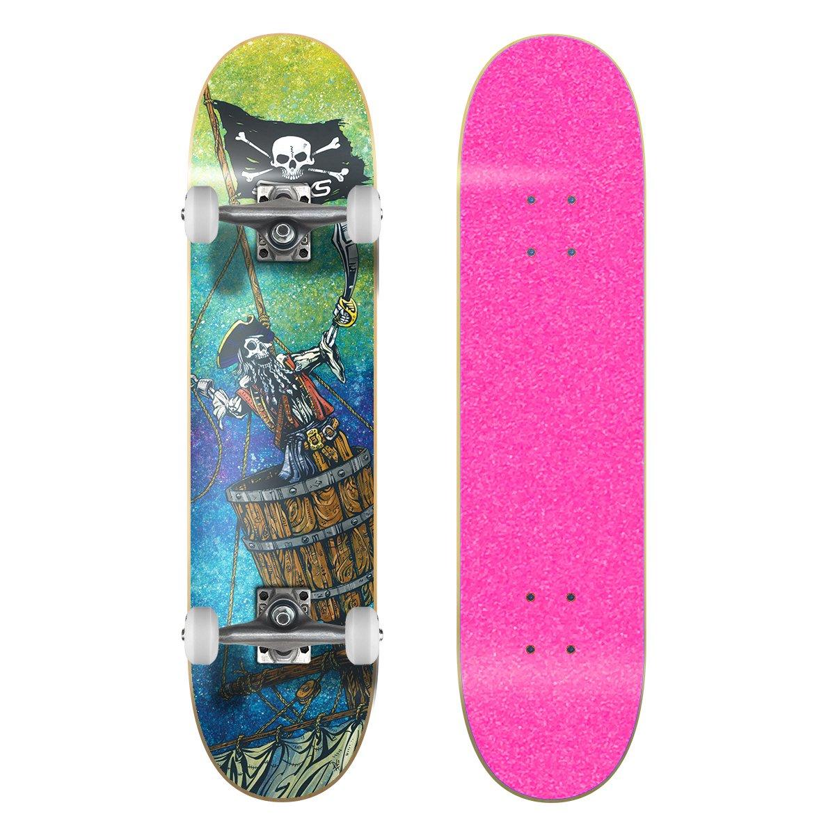 新しいブランド SkateXS ビギナー 海賊 ストリート スケートボード Pink 11-12) B01NAFAUT2 7.4 x 30 30 (Ages 11-12)|Pink Grip Tape/ White Wheels Pink Grip Tape/ White Wheels 7.4 x 30 (Ages 11-12), 艶スパ:e7fc2177 --- a0267596.xsph.ru
