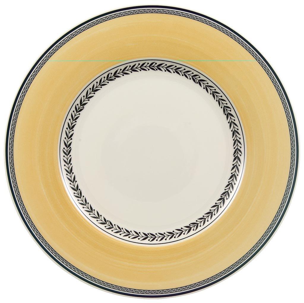 White//Grey//Yellow Villeroy /& Boch Audun Fleur Bread Plate Premium Porcelain 16 cm