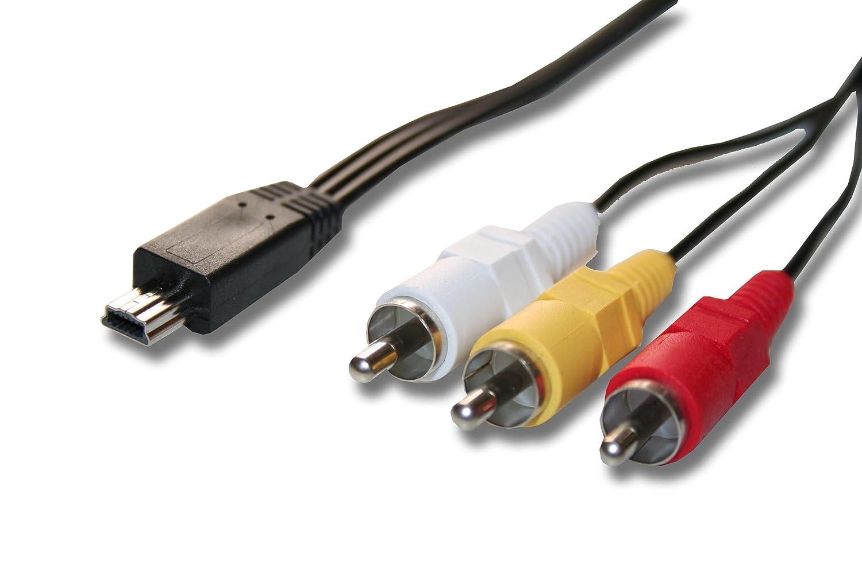 vhbw 1.5 m Cable AV-Adaptador por AVC-DC400 para cá mara Canon Digital Ixus 70, 80, 115, Canon Powershot A1000, 1400 para transmisió n en HDTV-System. 1400 para transmisión en HDTV-System.