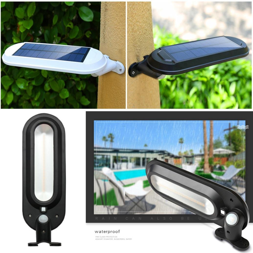 EnjoCho Solar Wall Light,White Light Waterproof Solar Power Motion Sensor Wall Mount LED Light Outdoor Garden Yard Lamp 2018 Hot Selling (Black) by EnjoCho (Image #9)