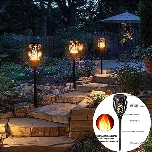 BRTTHYE Lámpara LED de Linterna Solar, lámpara Solar Exterior para Exteriores, Luces de césped Impermeables para iluminación de decoración de jardín de Calle: Amazon.es: Hogar