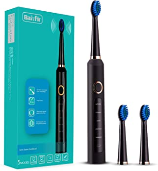 Sonic Electric Toothbrush Clean as Dentist Rechargeable 1 Time Charge