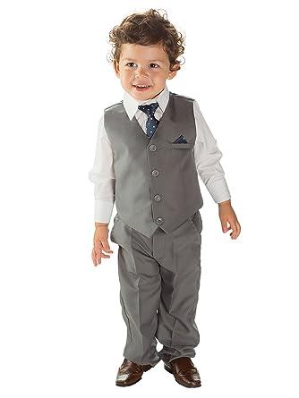 Paisley of London, niños gris suit, niños boda trajes ...