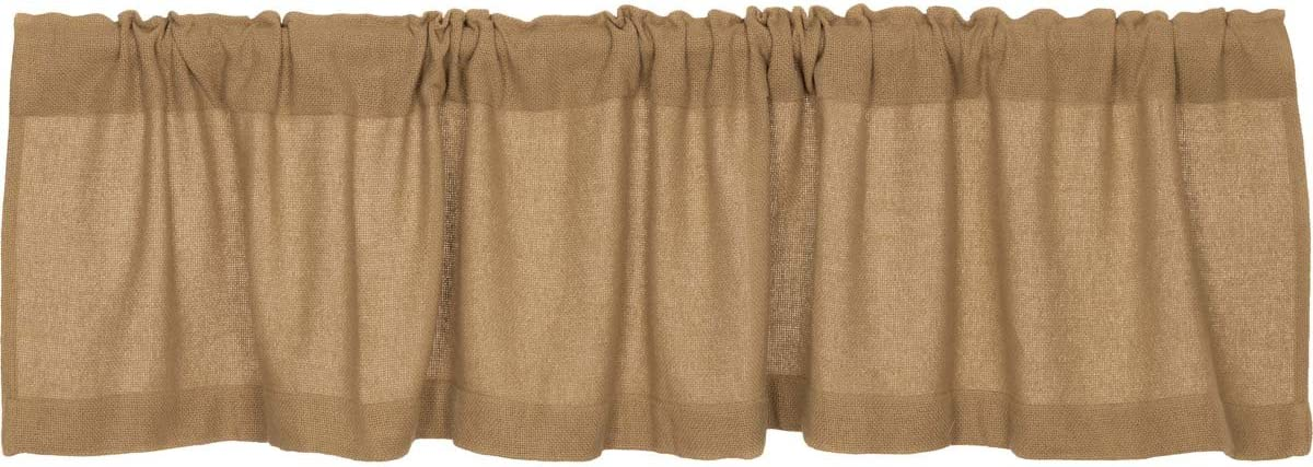 Amazon Com Lasting Impressions Burlap Natural Cotton Window Valance 16 Inch By 72 Inch Home Kitchen