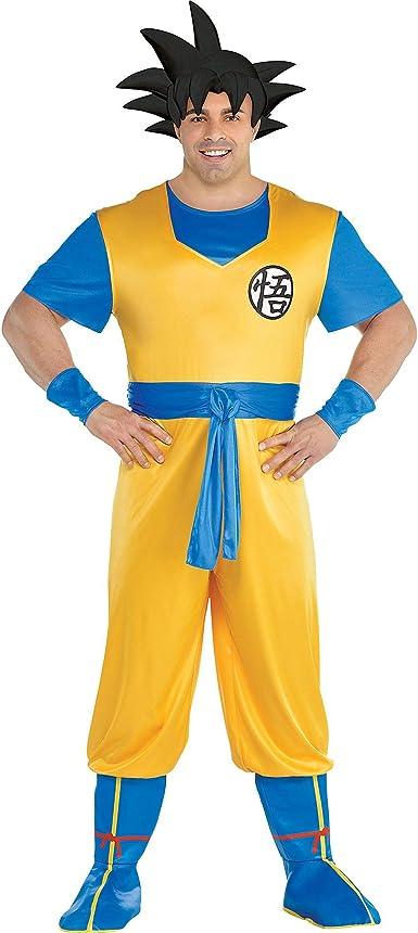 Disfraz De Dragon Ball Z Goku Para Adultos Talla Grande Incluye Un Mono Una Diadema Para El Pelo Y Fundas Para Botas Clothing